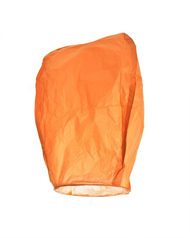 Lampion přání - Oranžový