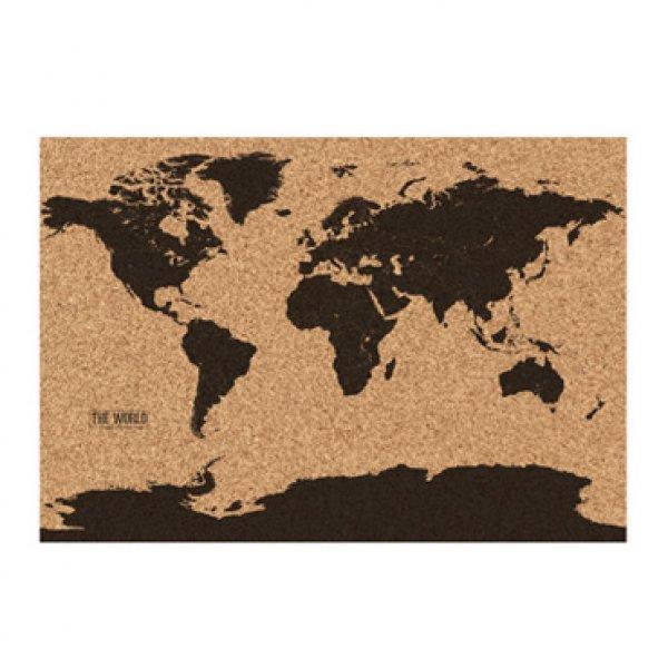 Korková mapa světa 82 x 58 cm