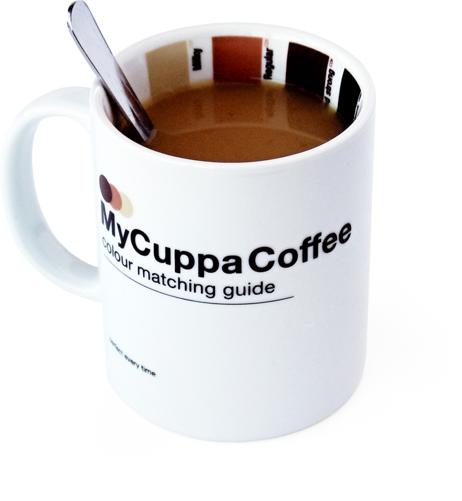 Hrnek se vzorníkem SUCK UK My Cuppa Coffee