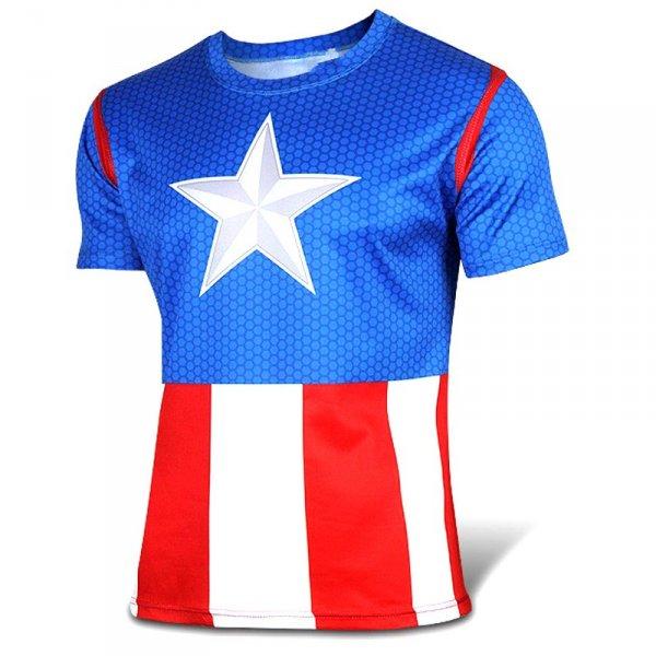 Sportovní tričko - Captain America vel. L
