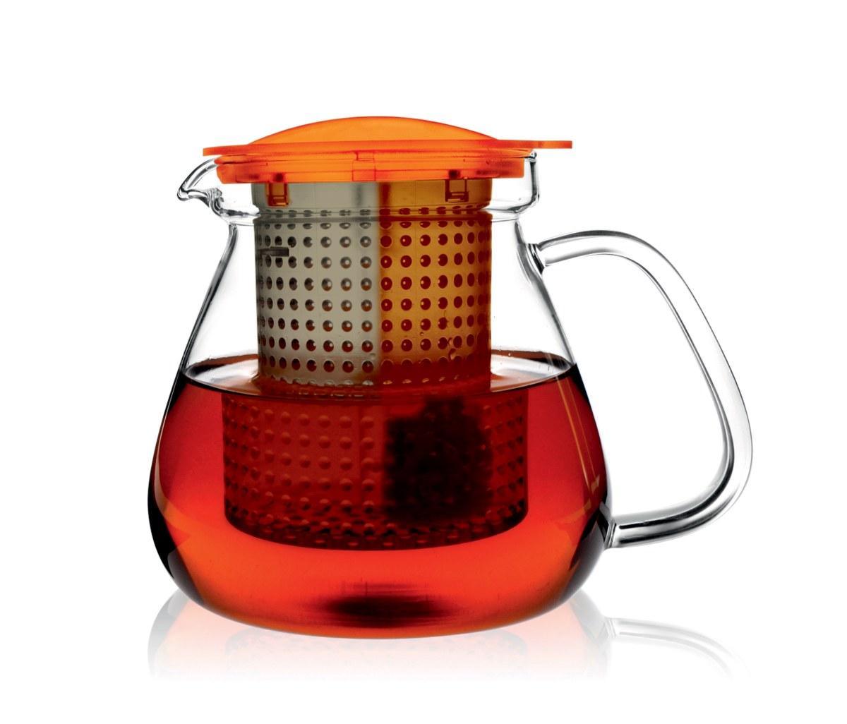 Skleněná konvice na čaj FINUM Tea Control 1 litr, jentarová
