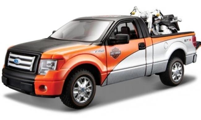 Maisto Harley Davidson Ford F-150 Pickup FLSTF Fat Boy 1:24