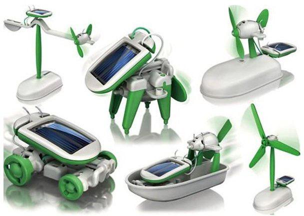 Solární stavebnice Solarbot 6 v 1 - Zelená