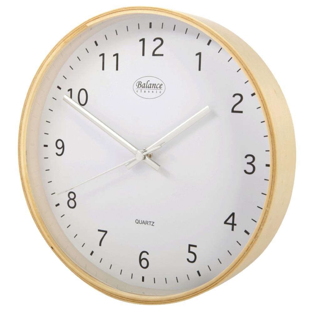 Balance Přírodní nástěnné hodiny, průměr 30 cm