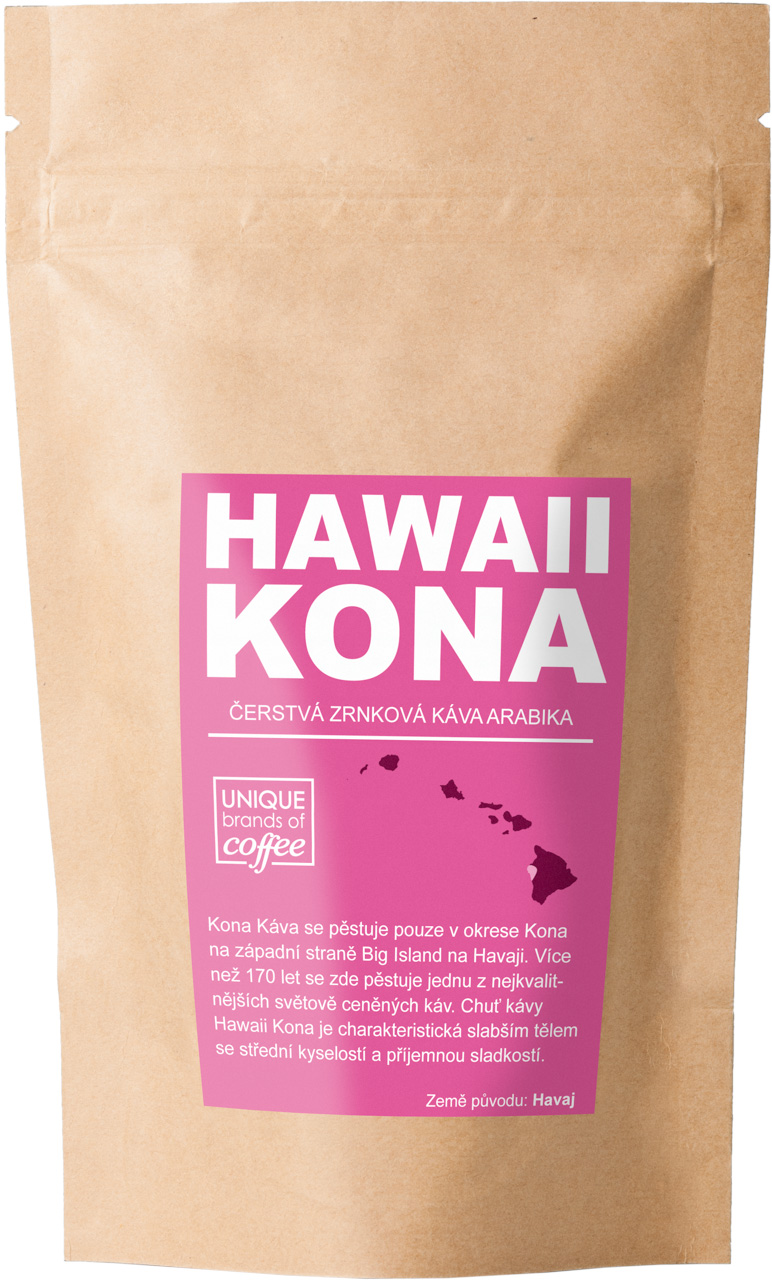 Hawaii Kona Extra Fancy Arabika, Zrnková 100g