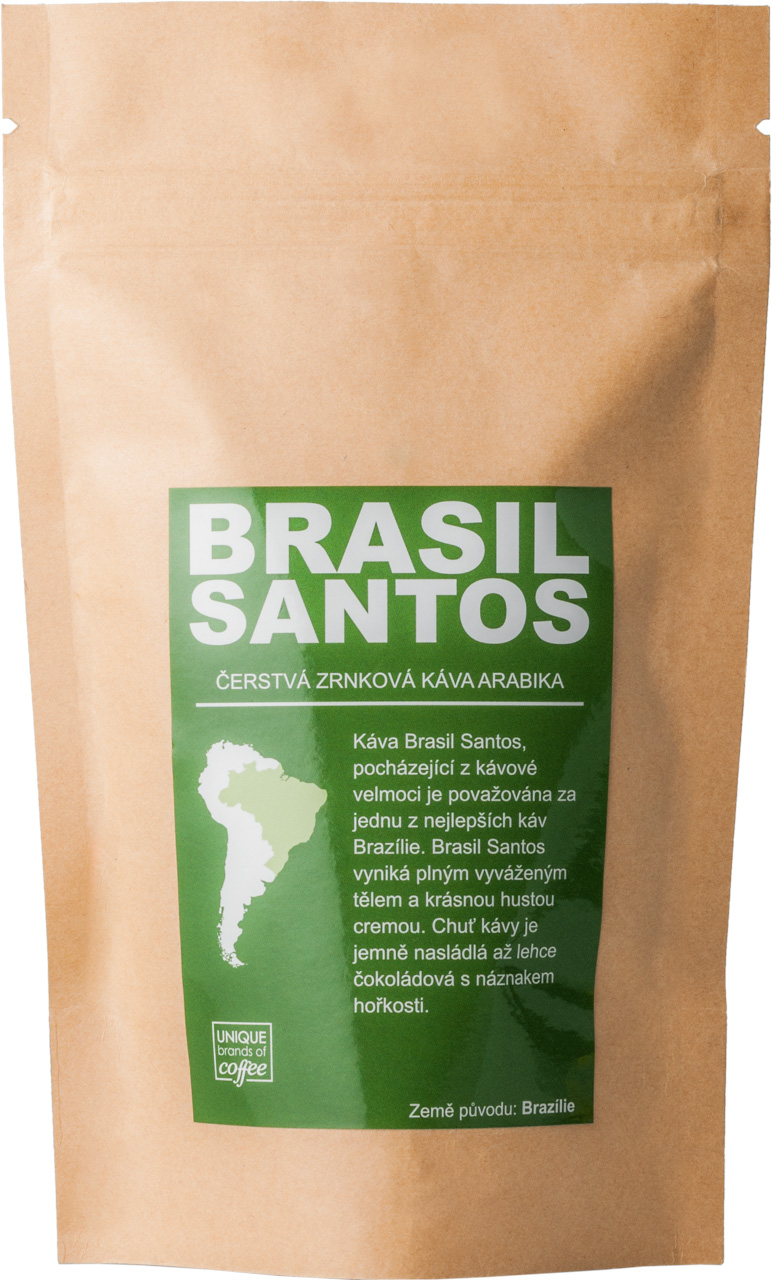 Brasil Santos Arabika, Středně mletá 100g