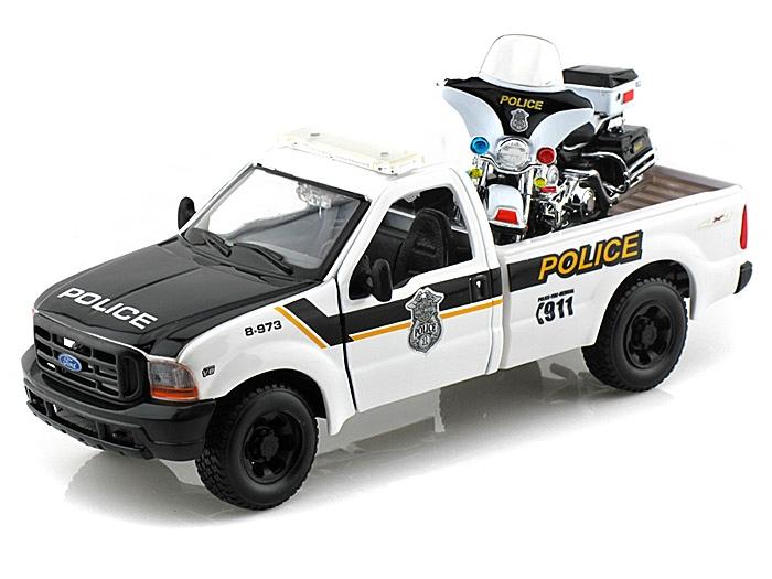 Maisto Ford F-350 Super Duty Police + FLHTPI Electra 1:24