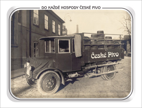 České Pivo, Plechová cedule 420 x 297 mm