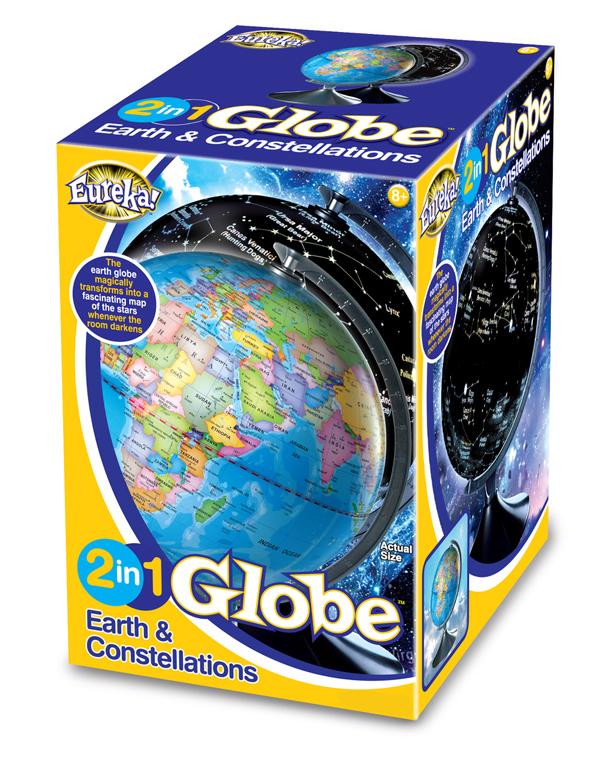 Svítící Globus 2v1 - Hvězdná obloha