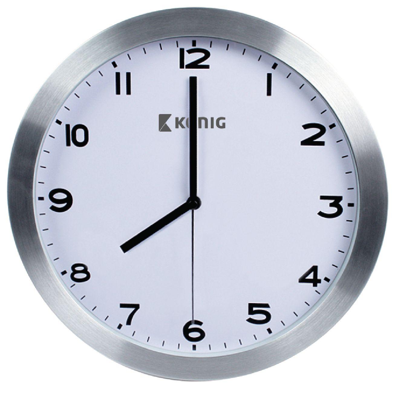 Konig Nástěnné hliníkové hodiny, Klasik 30 cm
