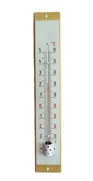 Venkovní teploměr smaltovaný, Smetanový 860 x 140 mm