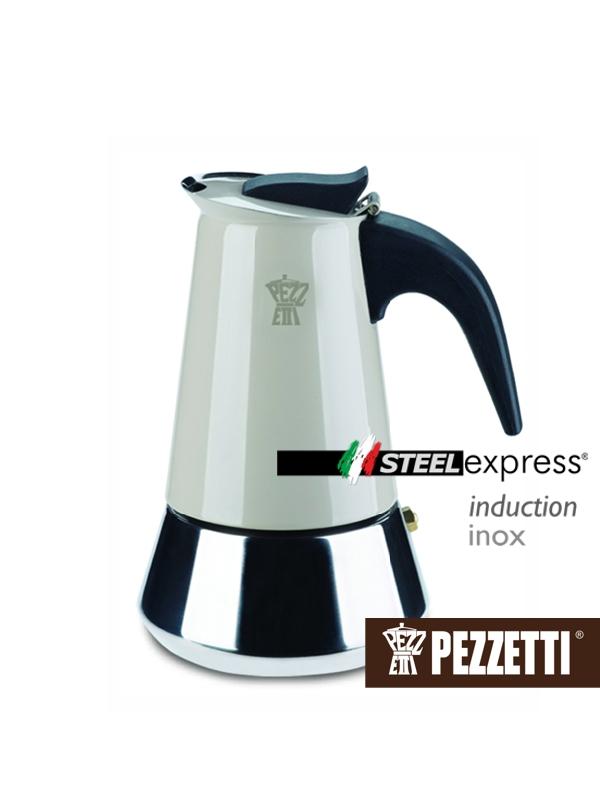 Pezzetti STEELEXPRESS nerez moka konvice, 2 šálky, Béžová