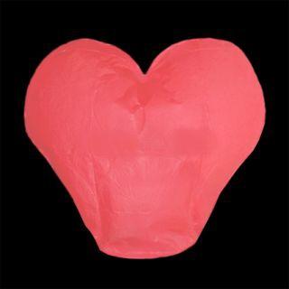 Lampiony přání - Červené srdce