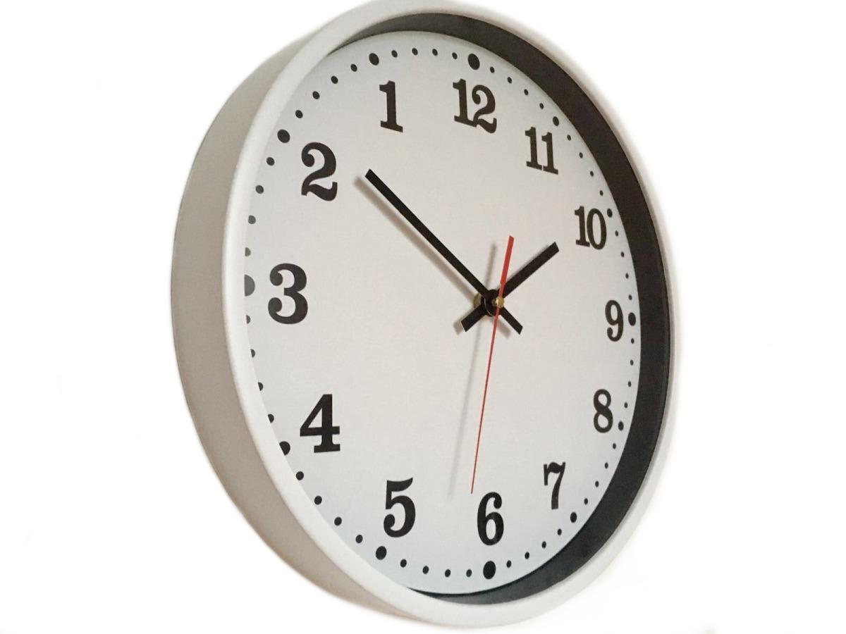 Obrácené nástěnné hodiny, Bílé průměr 30 cm