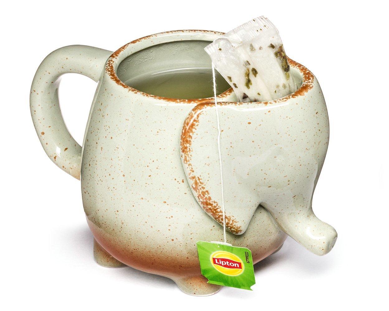 Porcelánový hrnek Slon, Šedý, 500 ml.