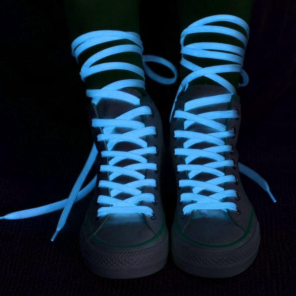 Svítící tkaničky, Modré