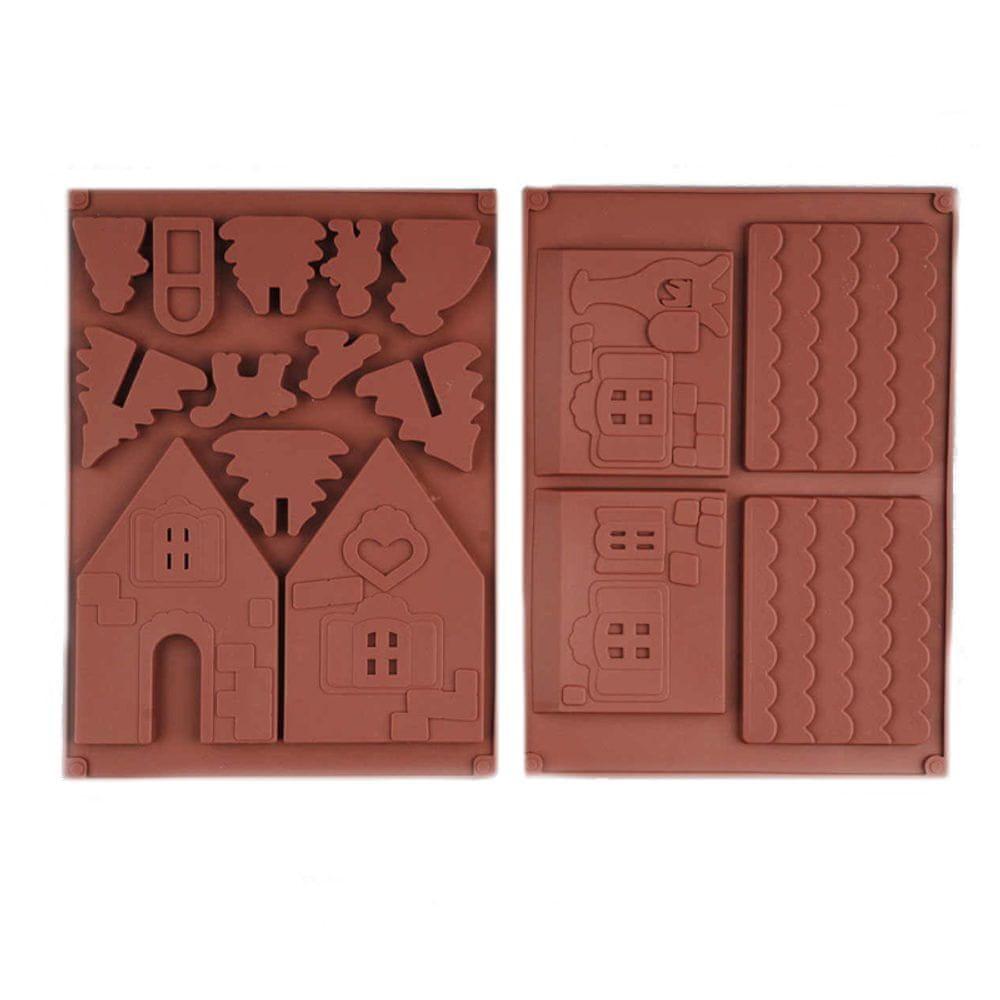 Silikonová forma na čokoládu - chaloupka