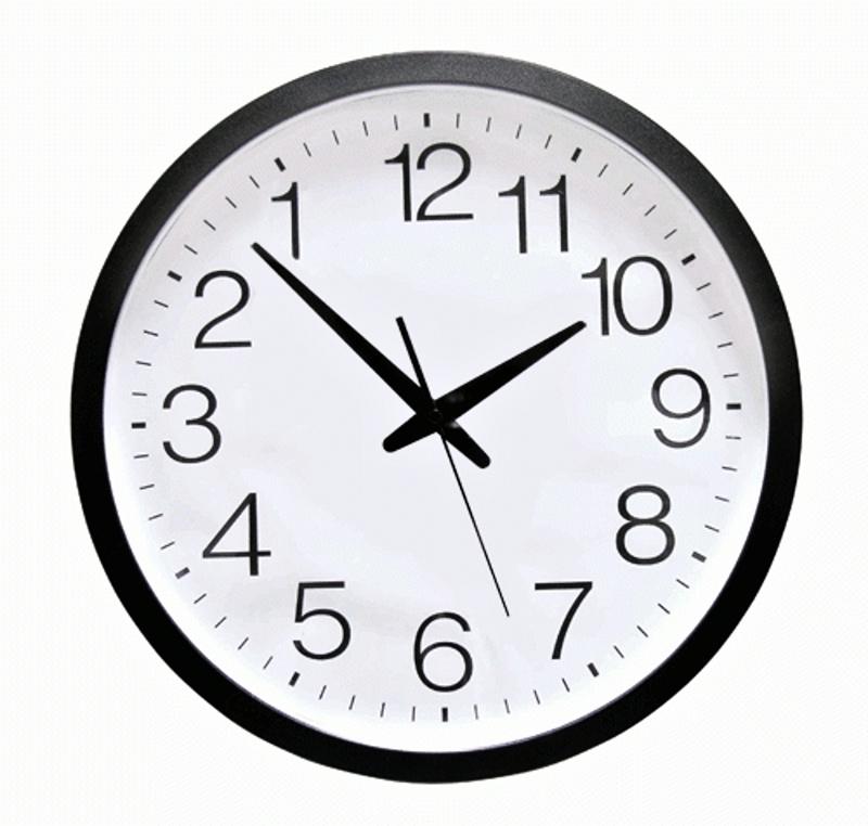 Obrácené nástěnné hodiny, Bílé průměr 29 cm