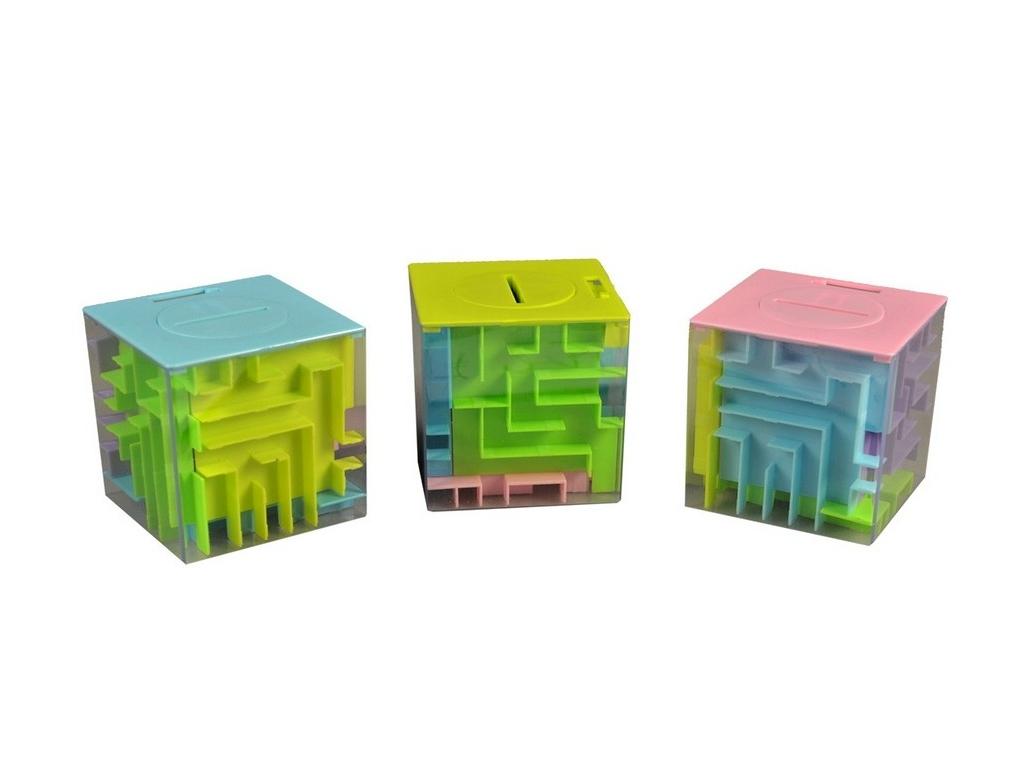 Labyrint na peníze, Barevná plastová pokladnička