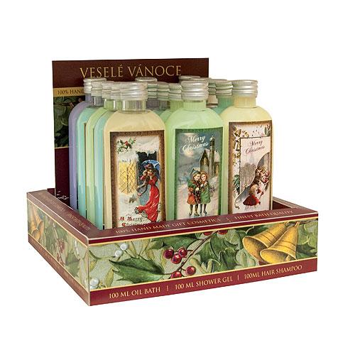 Bohemia Gifts Alfons Mucha, Vánoční sprchové gely 100 ml, box