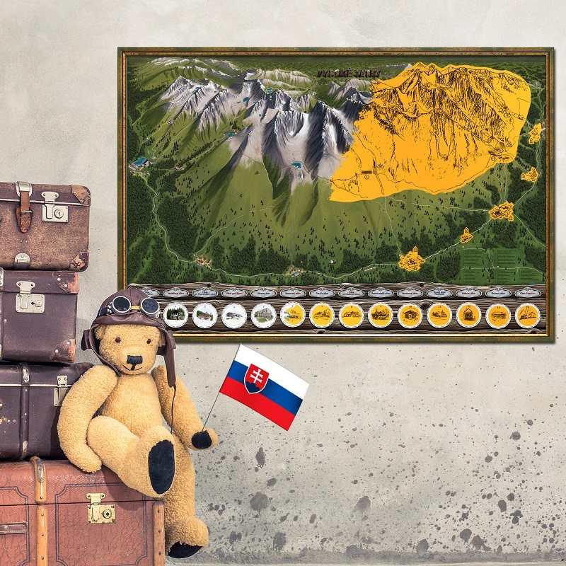 Stírací mapa Vysoké Tatry Deluxe XL
