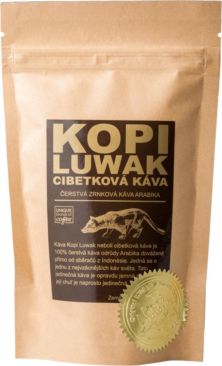 Kopi Luwak cibetková káva Arabika 50 g, Jemně mletá