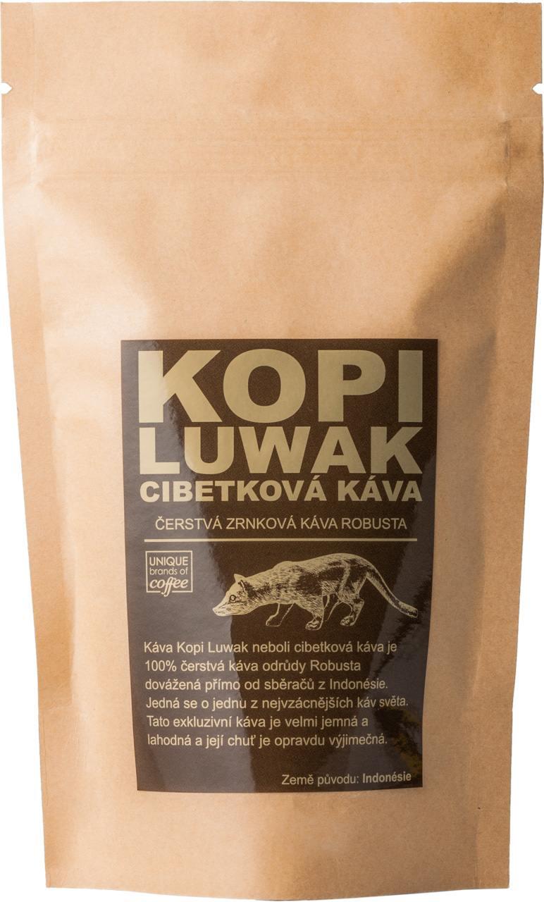Kopi Luwak cibetková káva Robusta 200 g