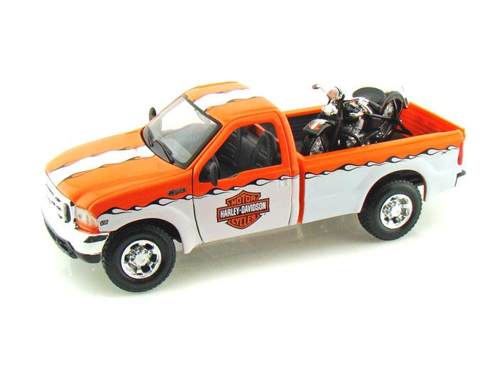 Maisto Ford F350 Harley Davidson Truck, Knucklehead 1:24