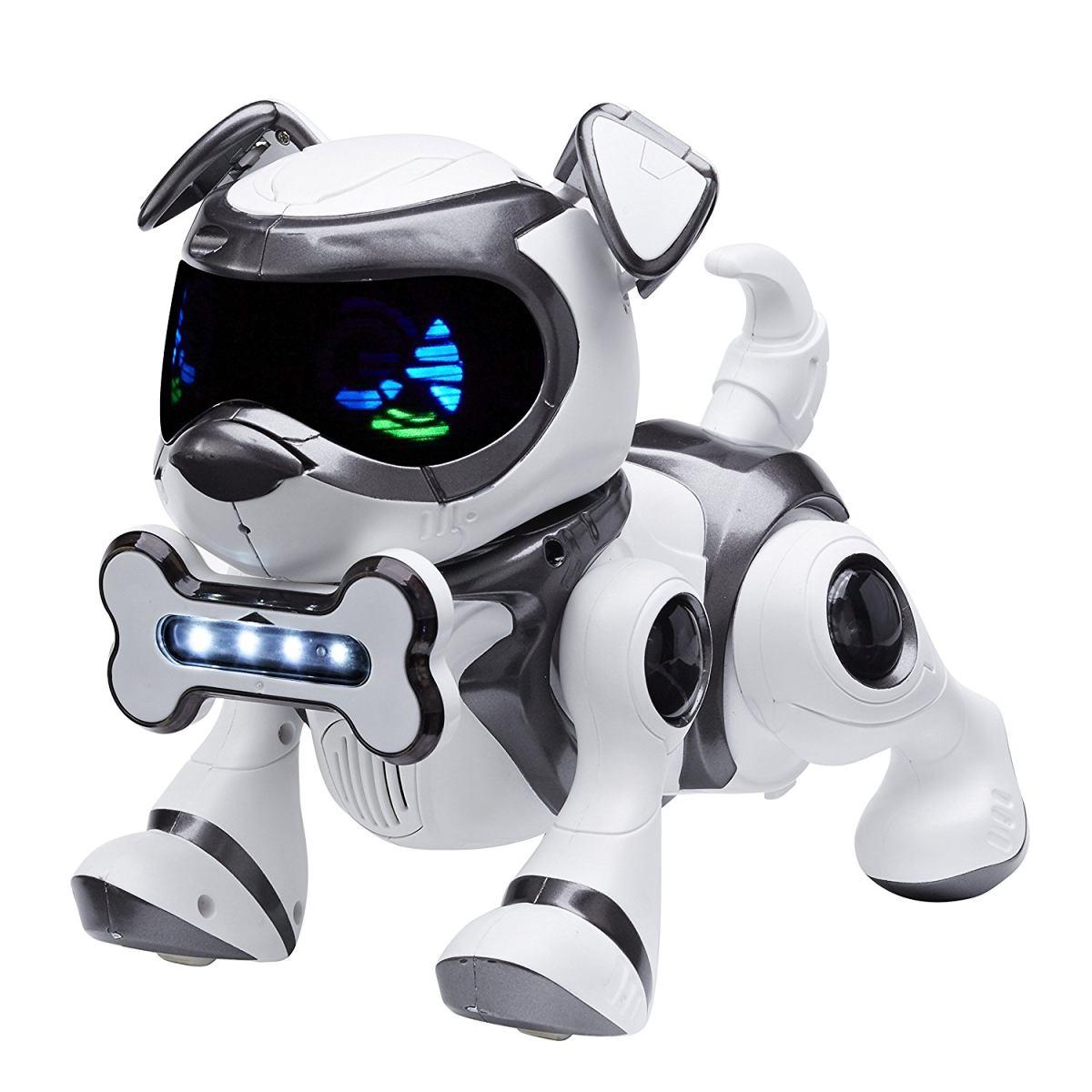 TEKSTA robotické štěně ovládané hlasem, Černé