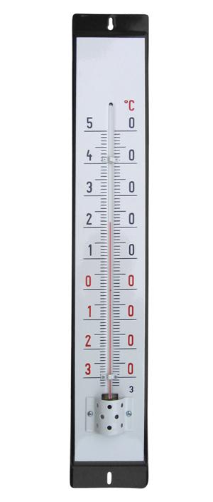 Venkovní teploměr smaltovaný, Černobílý 860 x 140 mm